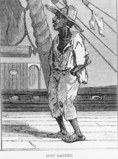 South Sea Islander sketch on boat